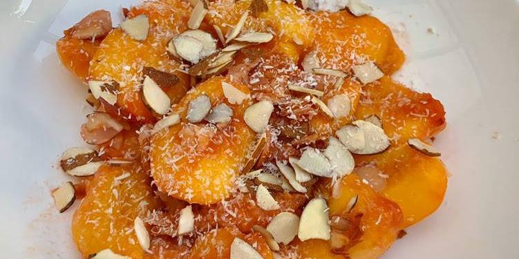 Recipe: Tasty Easy & Quick Peach Desert #vegan #gluten-free #grain- free #sugar-free