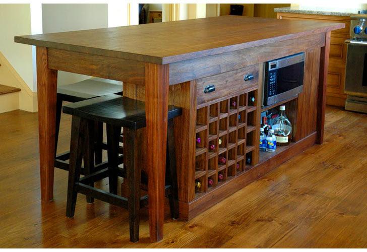 Kitchen Island Wine Rack Kitchen Ideas