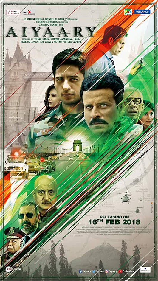 Aiyaary 2018 Full Movie Download 720p