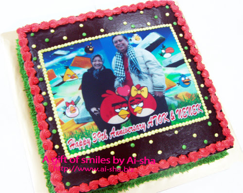 Birthday Cake Edible Image Angry Bird