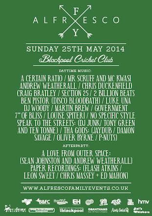 Alfresco live @ Blackpool Cricket Club 25 May 2014