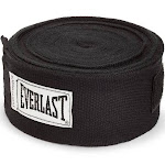 Everlast 120 Inch Polyester Cotton Boxing Sparring Training Hand Wraps, Black