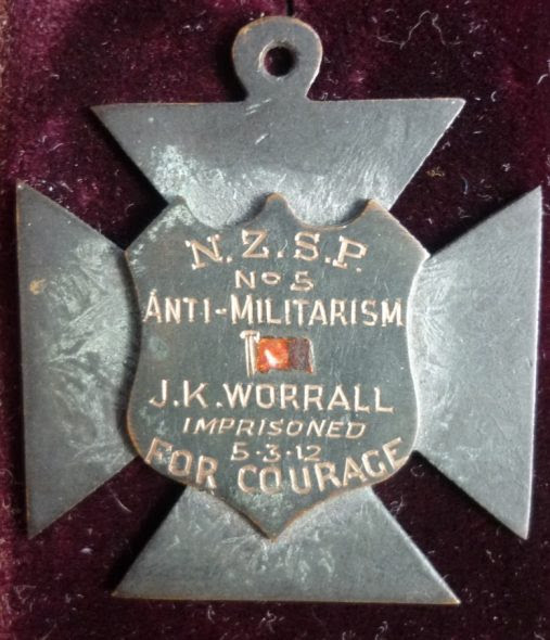 Socialist Cross of Honour no. 5 awarded to J K Worrall, courtesy of Jared Davidson