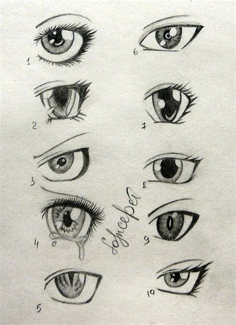 sketches  anime eyes    side anime eyes