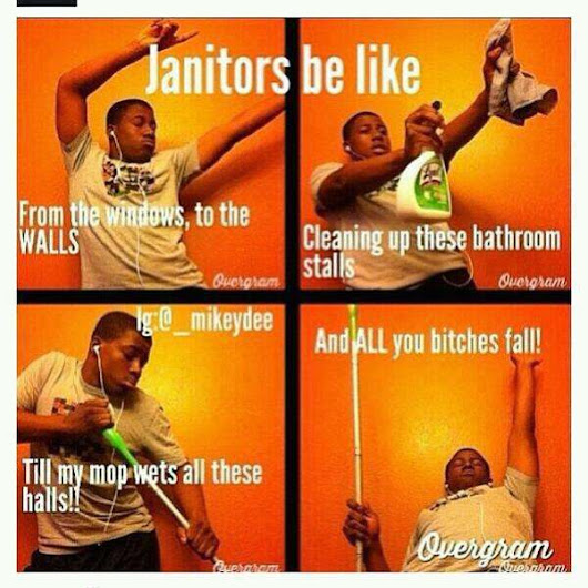 Sweeper Singer Janitors Be Like Just Laugh