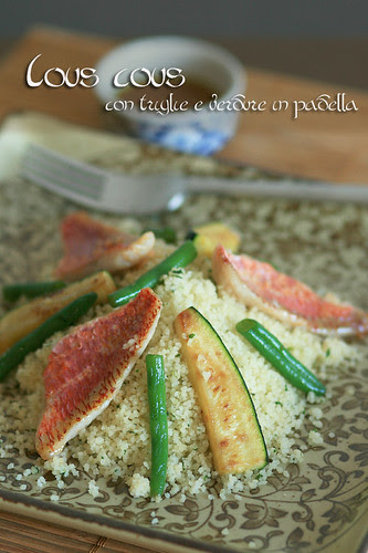 Cous cous con triglie e verdure in padella