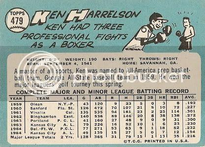 #479 Ken Harrelson (back)