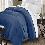 Microfiber Down Alternative Comforter Twin, Queen Or King Assorted Colors - Full/Queen Navy