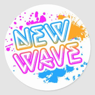 Corey Tiger 80s Vintage New Wave Neon Splatter Round Sticker