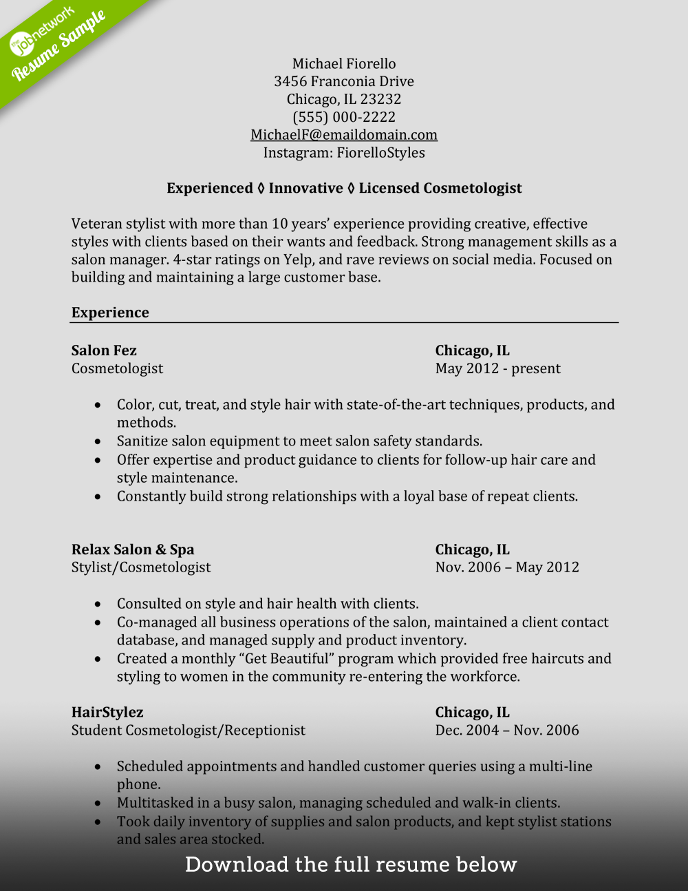 Beautician Resume Skills And Samples | | Mt Home Arts