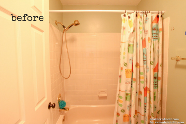 How To Update A Tile Shower Tub In A Weekend Remodelaholic