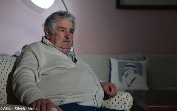 Pepe Mujica concede entrevista a Randy Alonso Falcón para la Mesa Redonda, La Habana, 25 de enero de 2016. Foto: William Silveira Mora