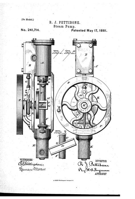 pettibone US 241714 A Patent Drawing | Inresol Stirling Engine