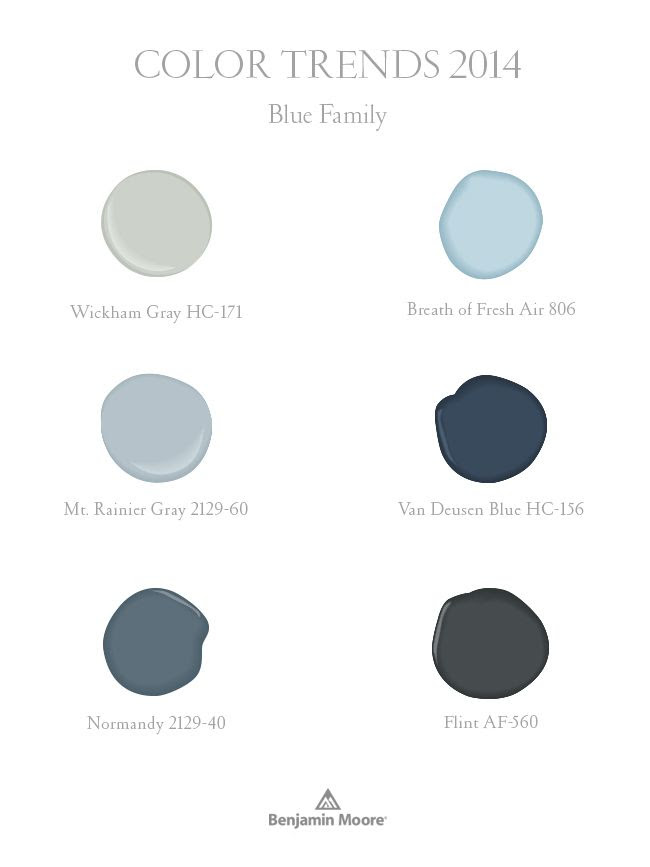 Benjamin Moore Color Trends 2014:  Blues