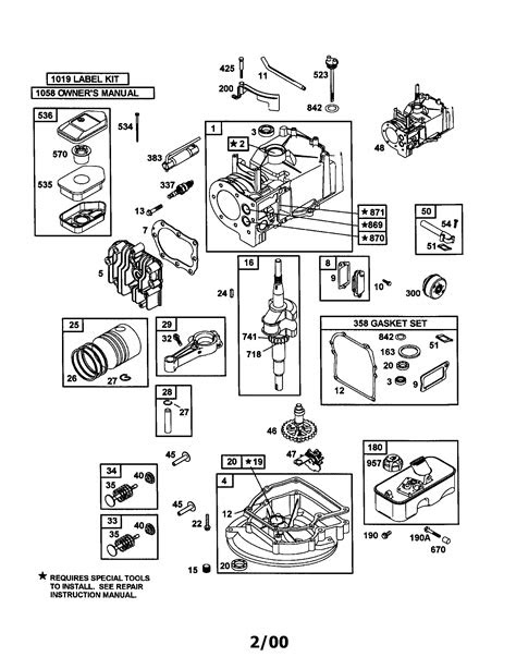 BRIGGS & STRATTON ENGINE Parts | Model 9D9022085E1 | Sears