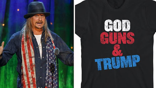 Kid Rock's Donald Trump-themed merchandise causes stir on social media