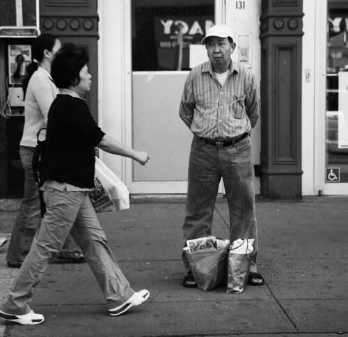 On the Sidewalk, Chinatown