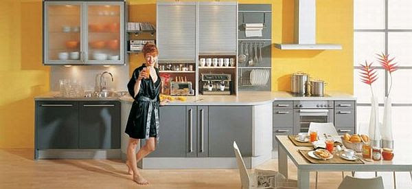 How to decorate the kitchen with yellow color?