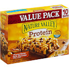 Nature Valley Protein Chewy Bars, Peanut Butter Dark Chocolate - 10 count, 14.2 oz box