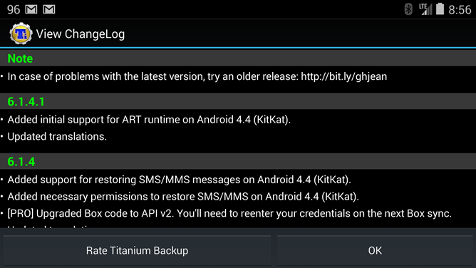 Titanium Backup Updated To Support Android Runtime (ART) In KitKat