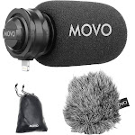 Movo Directional Stereo Cardioid Microphone w/Lightning Connector