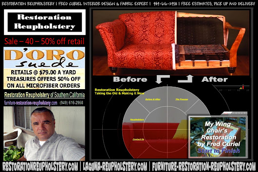 Contact Restoration Reupholstery - Cushion Restuffing - Custom Upholstery