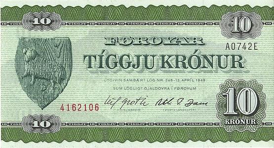 Banknoten Färöer