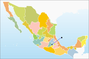 blank map of mexico