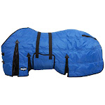 Tough-1 600D Stable Blanket W/Belly Wrap 72inch, Royal Blue
