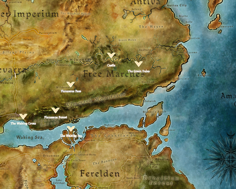 Dragon Age World Map on