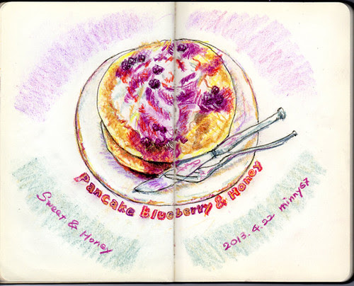 Pancake Blueberry & Honey