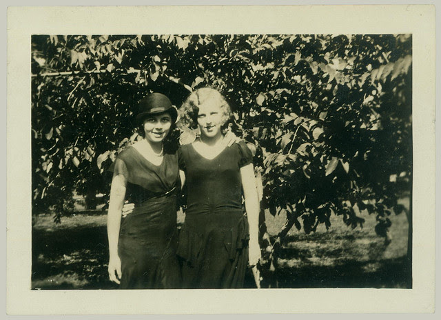 Two Girls in an orchard