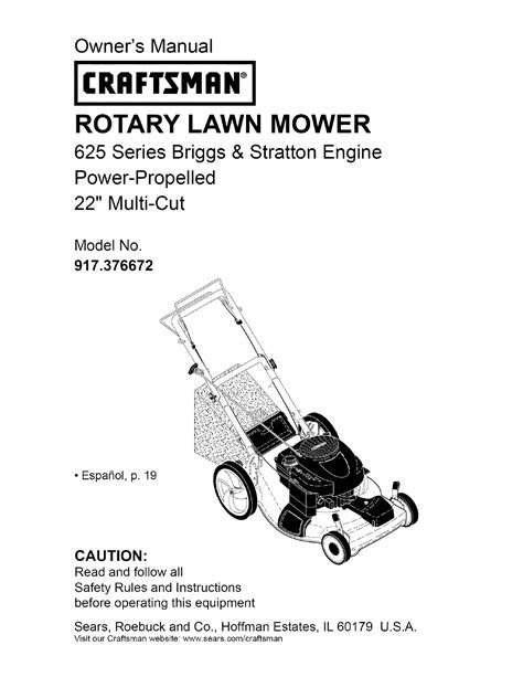 Craftsman Lawn Mower 917.376672 User Guide | ManualsOnline.com