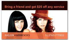 CPS-1010 - salon coupon card