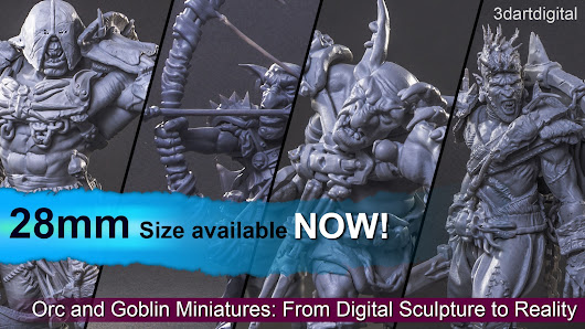 Orc and Goblin Miniatures: From Digital Sculpture to Reality