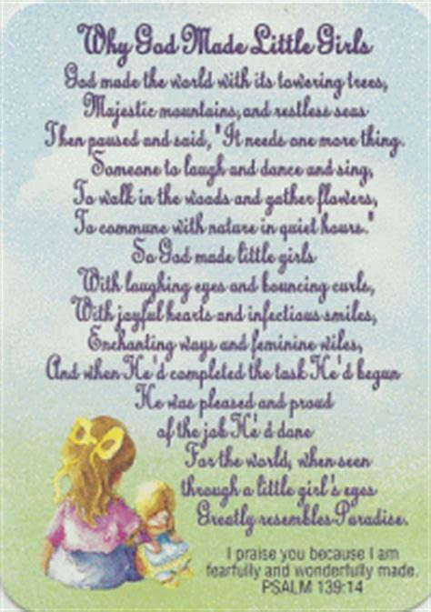 Get Your Why God Made Little Girls Pocket Card at SmileyMe!