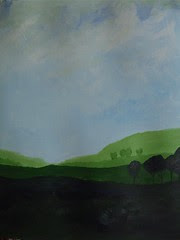 """Art practice: """"Blue Sky, Green Fields"""" (6 of 7)"""