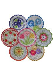 Floral Bouquet of Dishcloths Crochet Pattern - Electronic Download