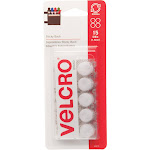 VELCRO Brand Sticky Back - Self-adhesive hook-and-loop fastener - 0.63 in diameter - white (pack of 15)