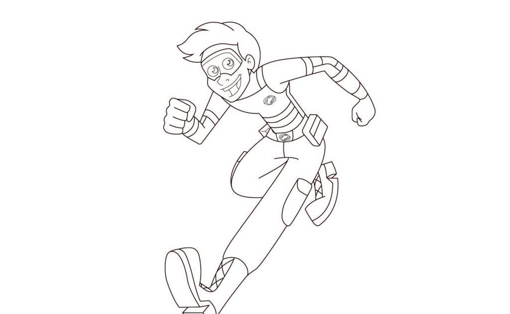 Kid Danger And Captain Man Coloring Pages Kidrizi