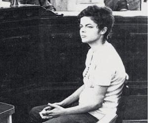 Dilma Rousseff en un juicio de la dictadura militar brasileña.