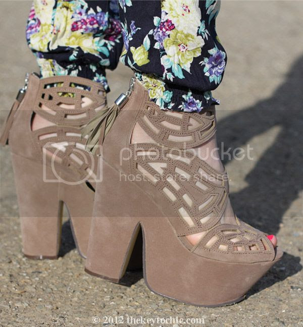 Love Culture floral pants, Michael Antonio Gallista heels, southern California fashion blog