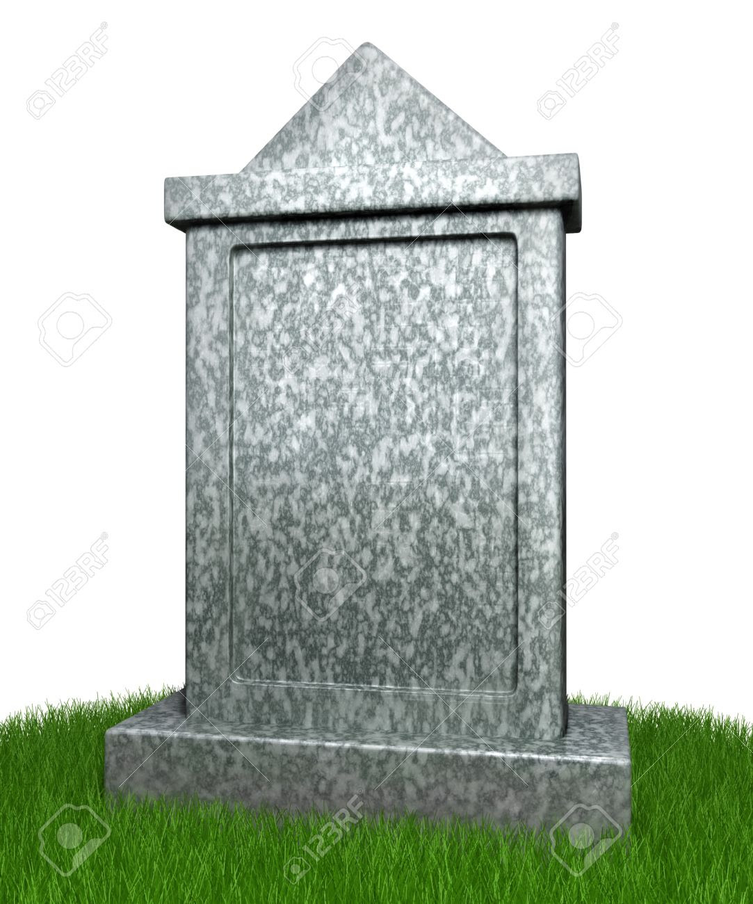 Blank Gravestone With Grass Stock Photo, Picture And Royalty Free ...
