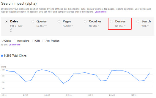How To Identify A Mobile Rankings Demotion Using The New Search Impact Report in Google Webmaster Tools