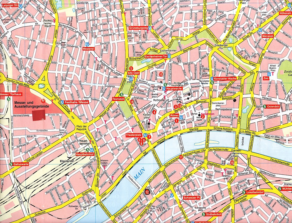 City Maps: Old maps of Frankfurt