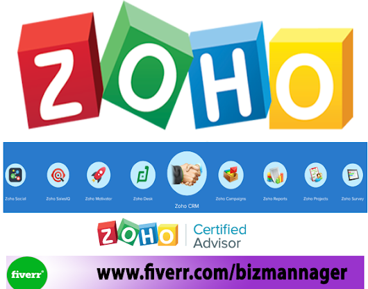 bizmannager : I will do anything in zoho crm, zoho creator, zoho desk, and mail for $5 on www.fiverr.com