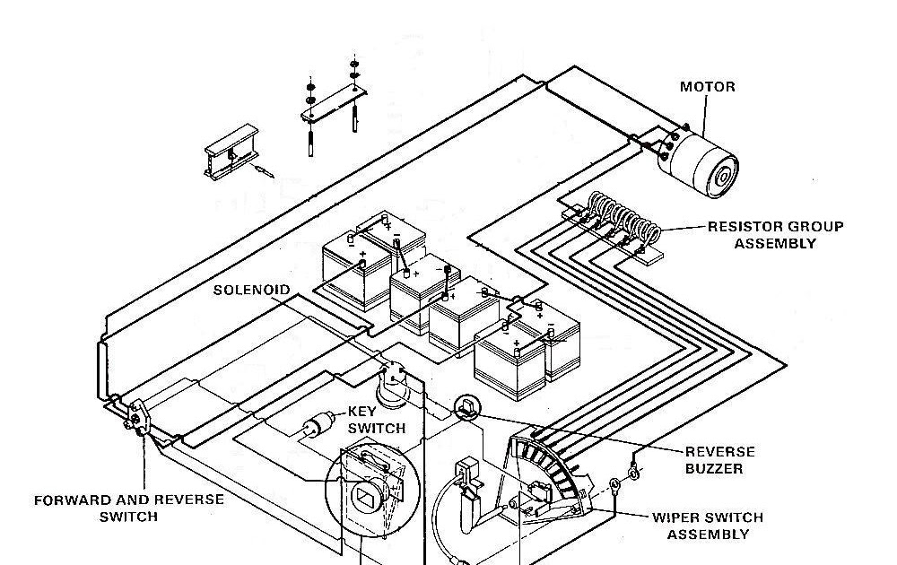 1990 Club Car Battery Wiring Diagram Schematic