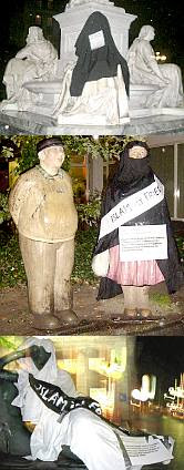 Veiled German sculptures