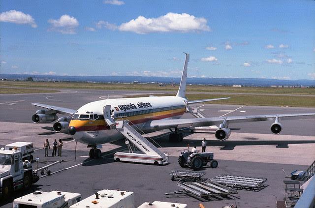 Uganda Airlines 707 in Nairobi