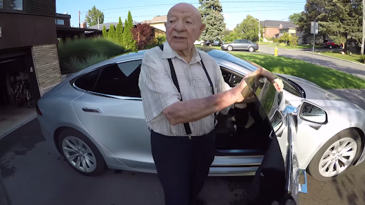 Tesla Model S Owner Gets His 97-Year-Old Grandpa's First Impression Of An Electric Car